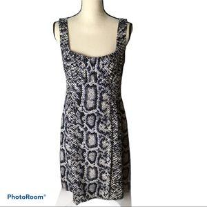 Nanette Lepore size 8 silk dress, animal print